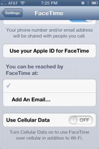 iOSFacetimeDataOFF