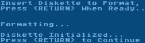 SpartaDOS XINIT Formatting