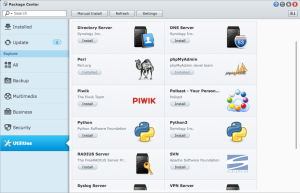 Synology Package Install Perl phpMyAdmin