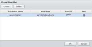 Synology Virtual Host