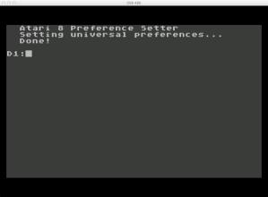 6502 Atari 400/800 OSB Prefs