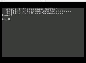 6502 Atari 800 XL Prefs