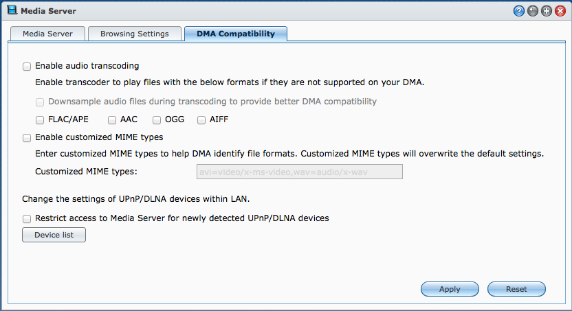 Synology, Sony BluRay Player and DLNA   Unfinished Bitness