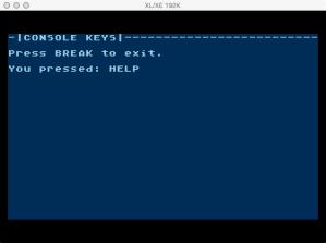 6502 Atari HELP console key