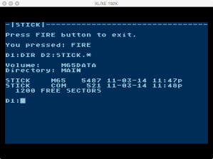 6502 Joystick Files