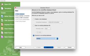 OSX LibreOffice Base MySQL