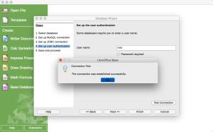 OSX LibreOffice MySQL Connect OK