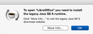 Legacy Java SE 6 runtime error