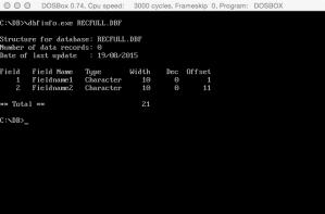 Action-DOS-DBFINFO-RECF