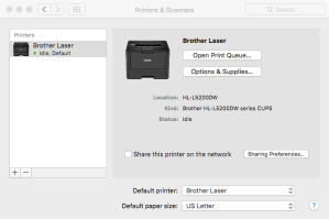 Brother printer installed